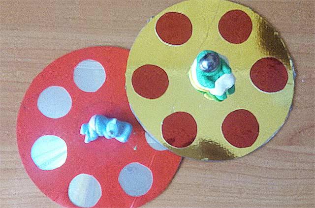 поделка из дисков