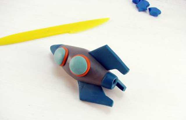 как сделать ракету из пластилина