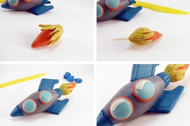 как из пластилина сделать ракету