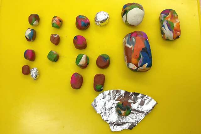 шарики из пластилина
