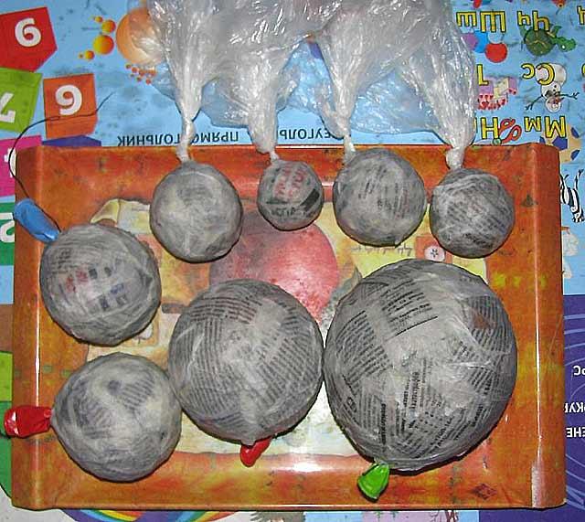 обклеенные воздушные шарики