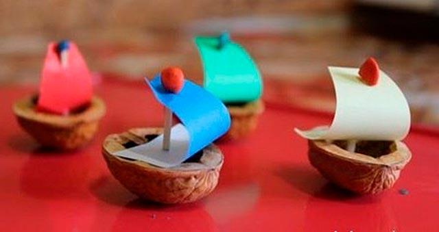 кораблик поделка
