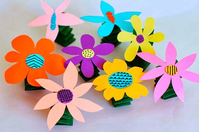 поделка цветы