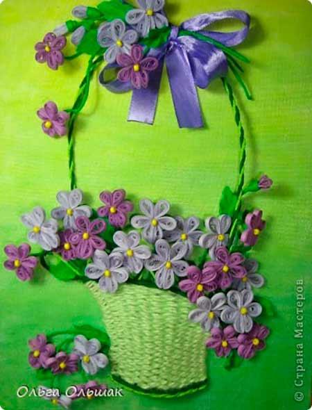 поделка весенние цветы картинки