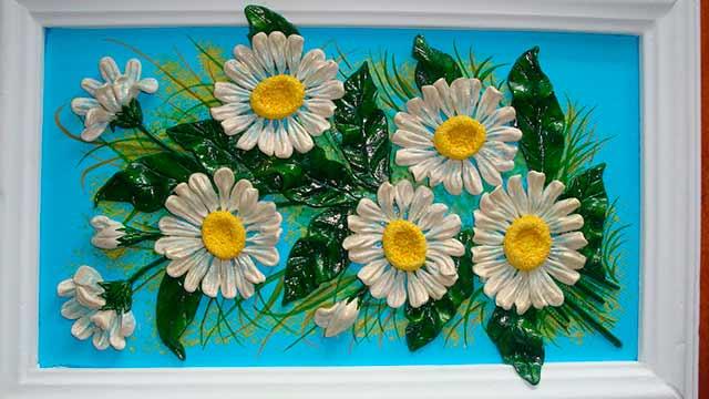 поделка из теста цветы