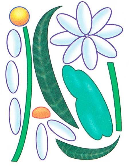 шаблон весеннего цветка