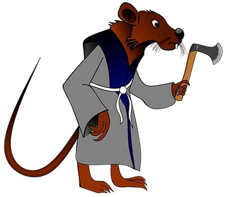 мышка с топором