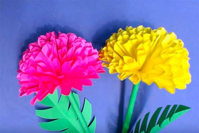 цветок бумажный
