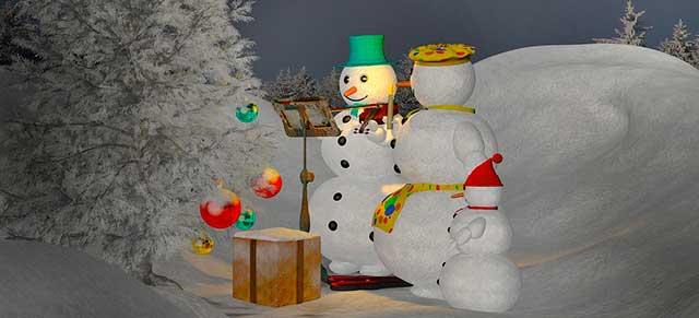 настоящий снеговик