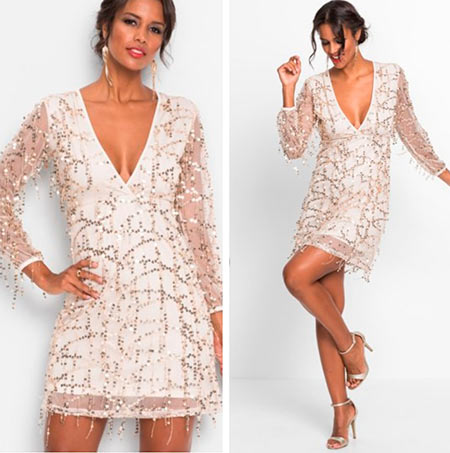 платье серебристое