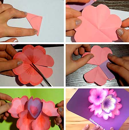 открытка с цветком