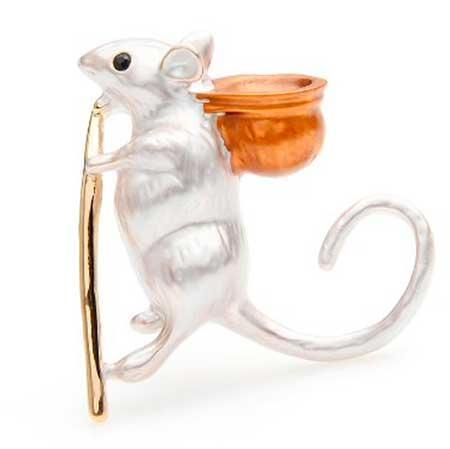мышка брошь