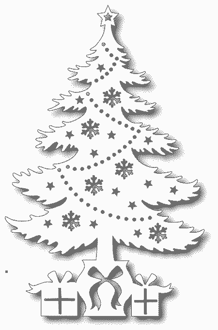 шаблон елки для вырезания