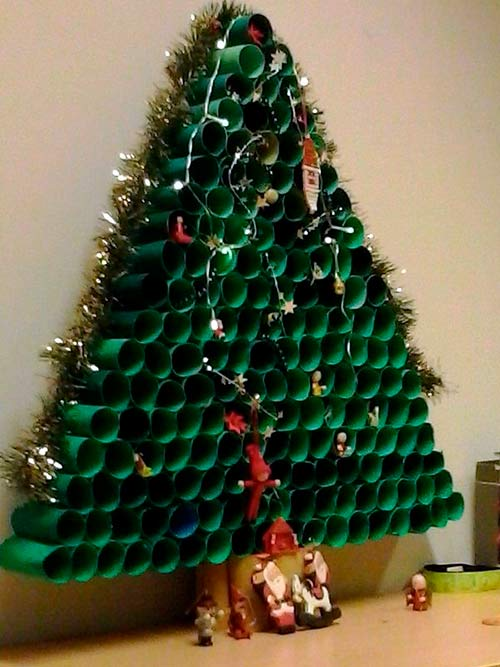 елка из втулок