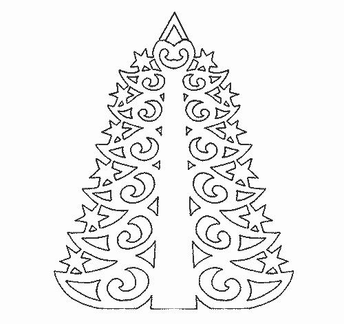 елки шаблон