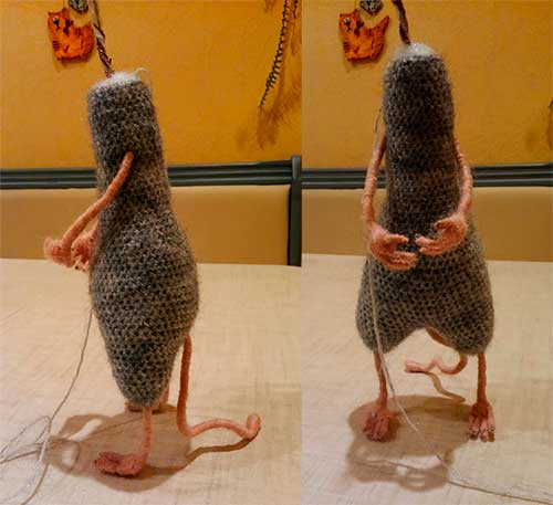 туловище с ножками