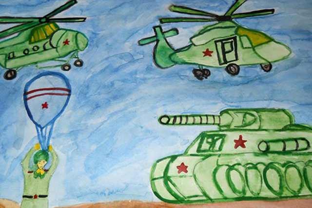 вертолеты и танк