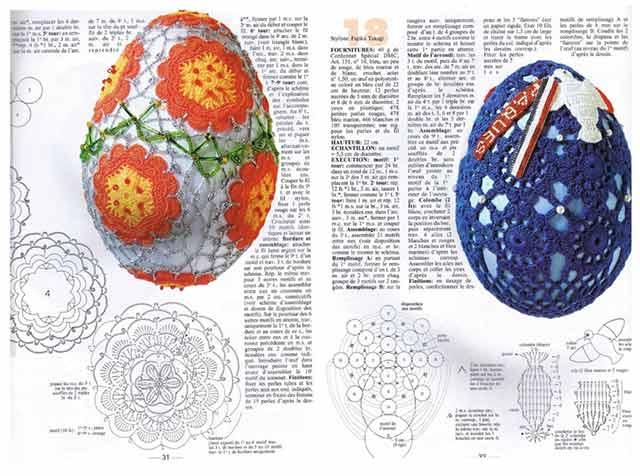 схема вязания яйца