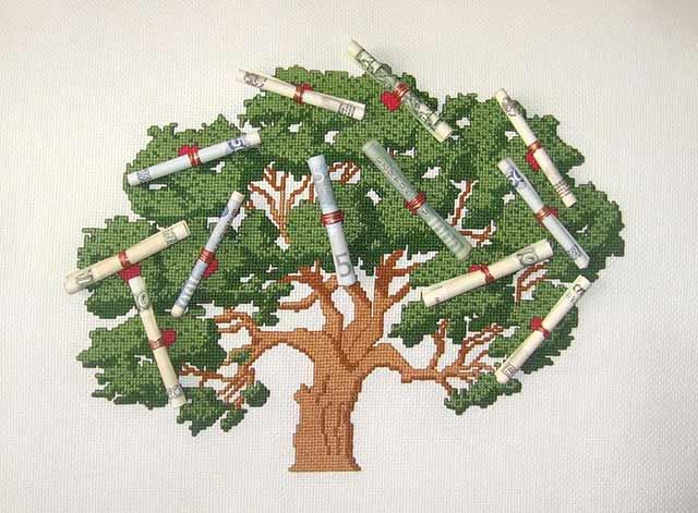 дерево вышивка