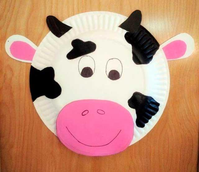 корова тарелка