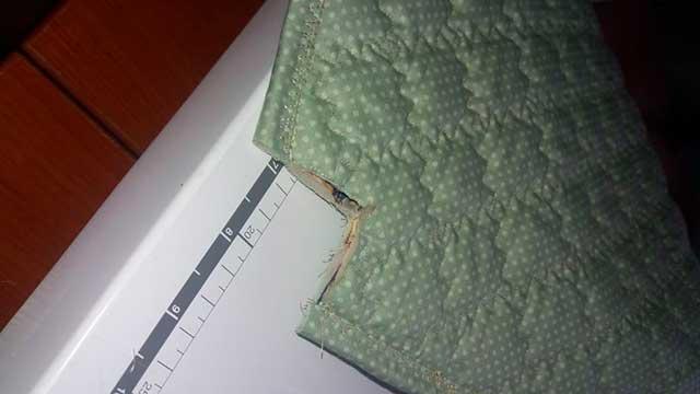 срезы на ткани