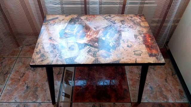 столик после декорирования
