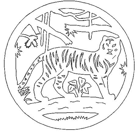 вытынанка тигр