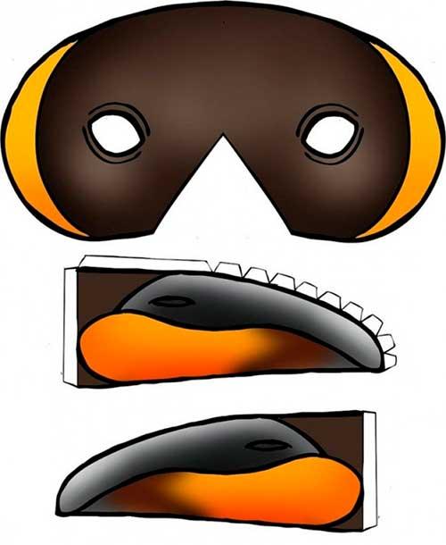 новогодняя маска для распечатки