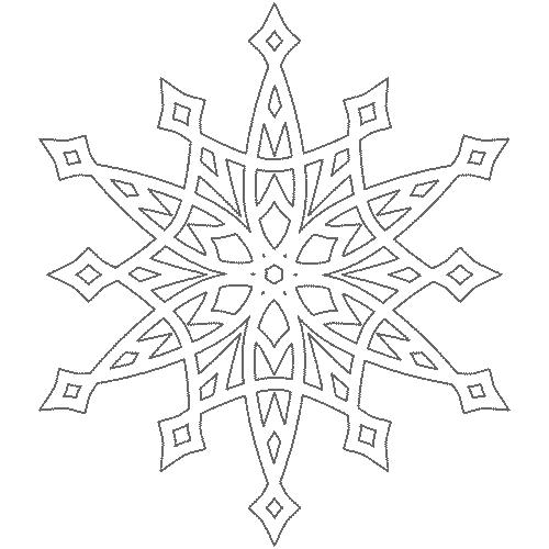 вытынанка снежинка на новый год