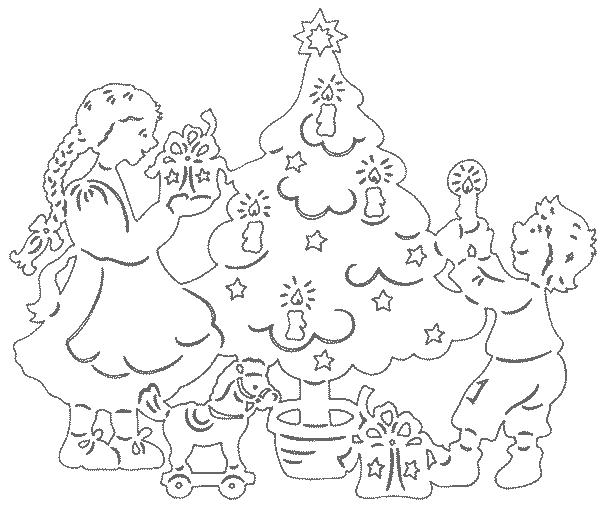 дед мороз новогодний трафарет