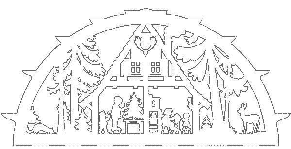 домик вытынанка