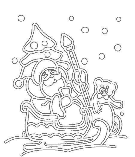 вытынанка с дедом морозом