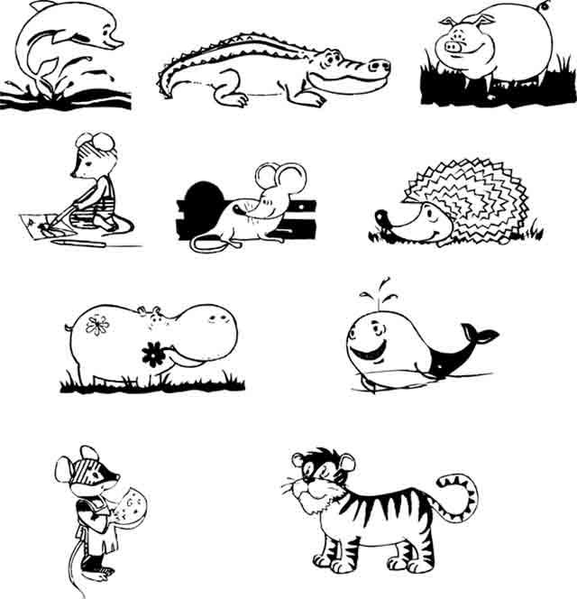 животные для срисовки