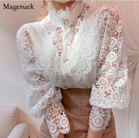 блуза кружевная