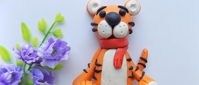пластилиновый тигр
